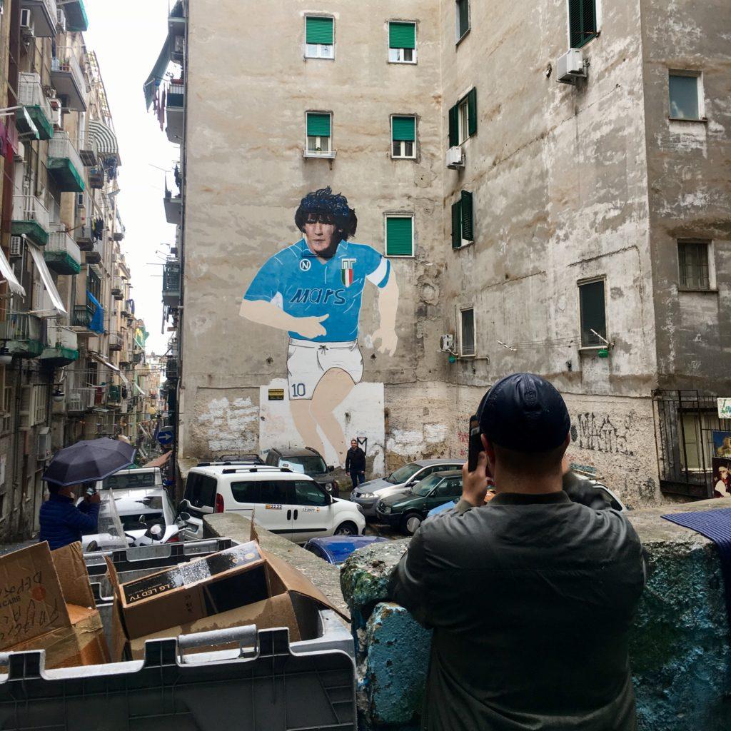 Maradona muurschildering in Napels