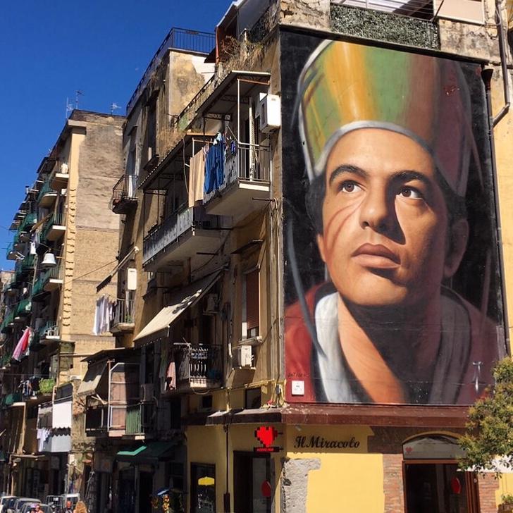 street art van jorit in napels