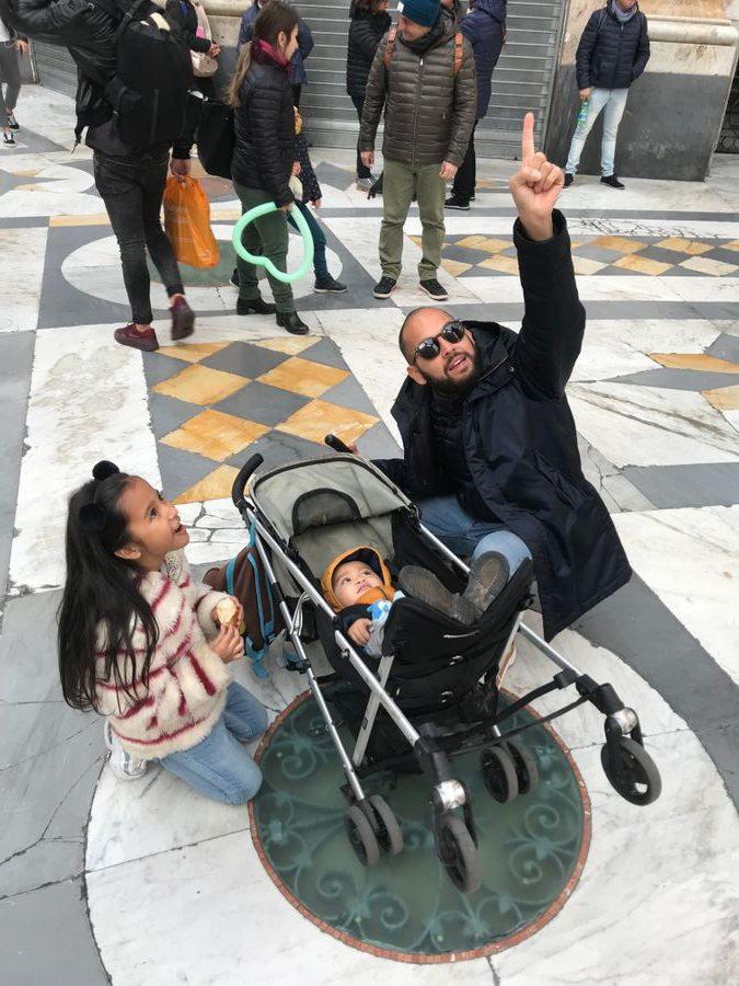 Galleria Umberto Napels met kinderen