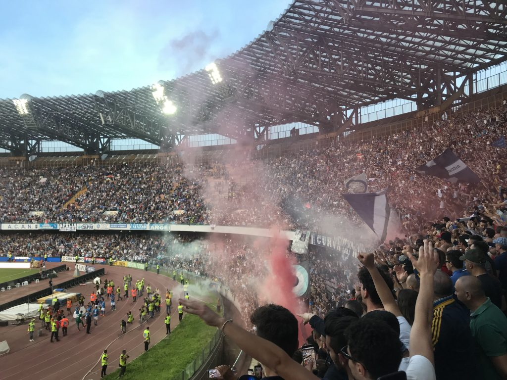 san paolo stadion in Napels