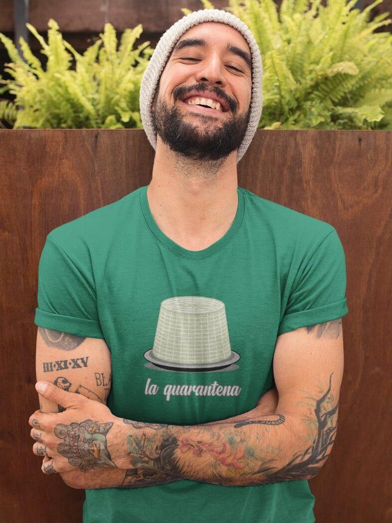 t-shirt Ontdek Napels  la quarantena