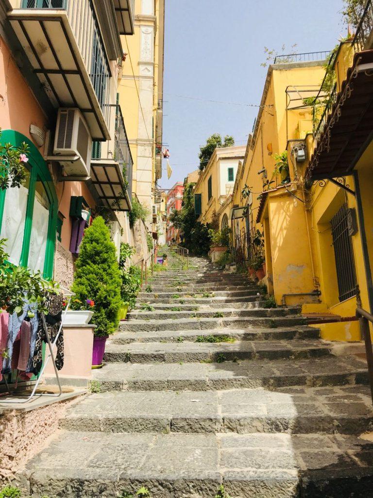 trappen van petraio omhoog