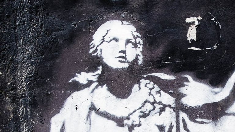 banksy kunstwerk in napels