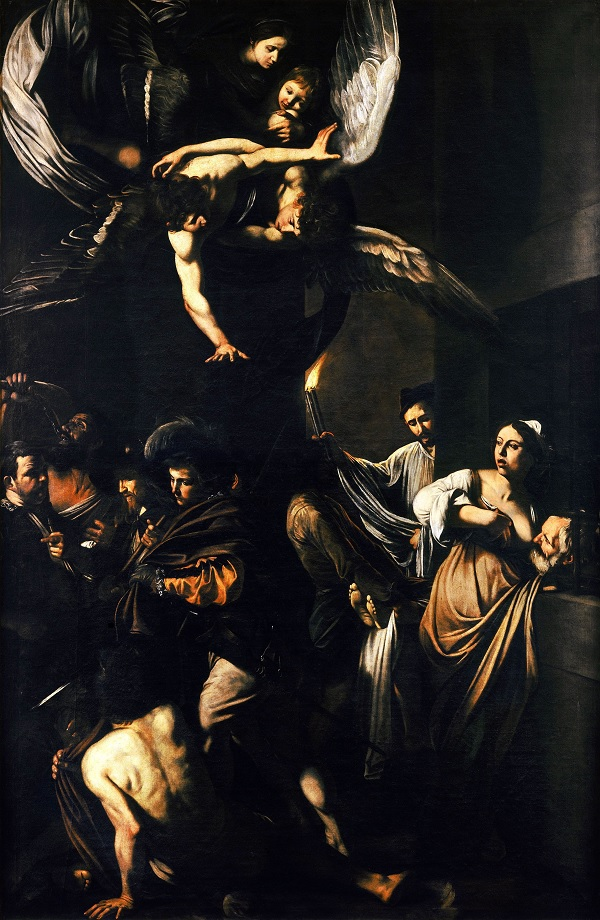 De zeven werken van barmhartigheid Caravaggio Napels