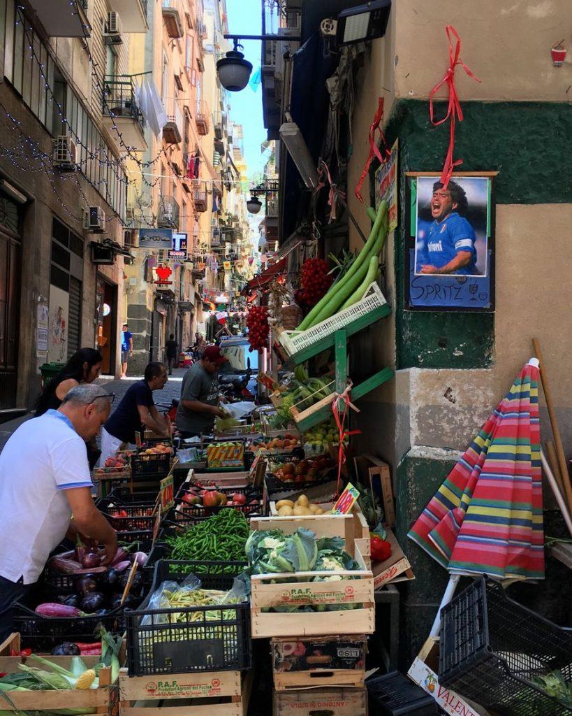 De wijk Quartieri Spagnoli in Napels