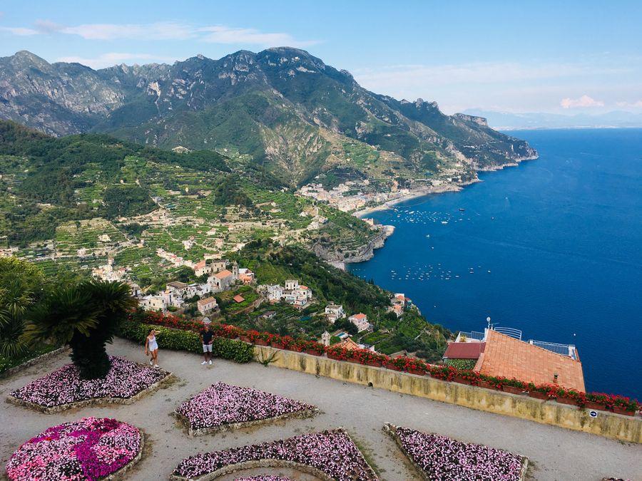 Villa Rufolo Ravello uitzicht