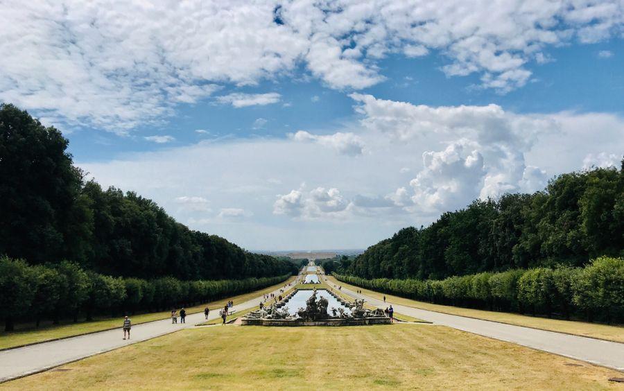 de tuin van het paleis