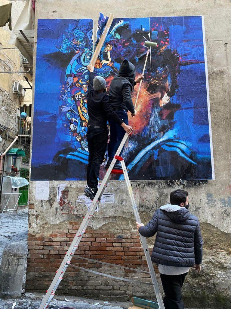 maradona foto poster